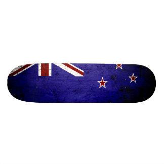 Black Grunge New Zealand Flag 1 Skateboards