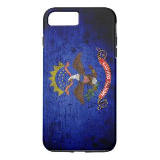 Black Grunge North Dakota State Flag iPhone 7 Plus Case