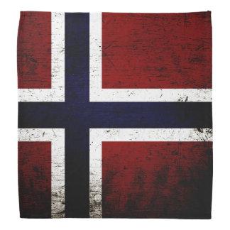 Black Grunge Norway Flag Do-rag