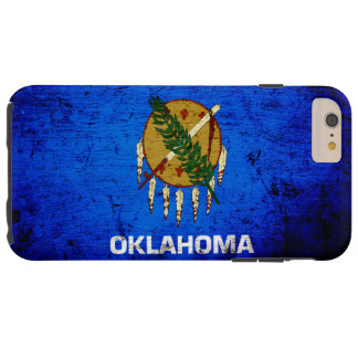Black Grunge Oklahoma State Flag Tough iPhone 6 Plus Case