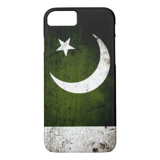 Black Grunge Pakistan Flag iPhone 7 Case