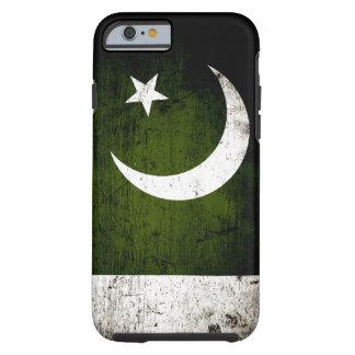 Black Grunge Pakistan Flag Tough iPhone 6 Case