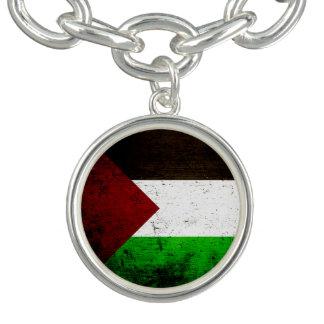 Black Grunge Palestine Flag Bracelet