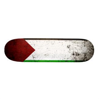 Black Grunge Palestine Flag Skate Deck