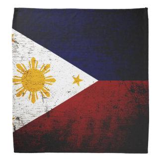 Black Grunge Philippines Flag Bandana