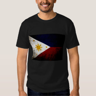 Black Grunge Philippines Flag Shirt