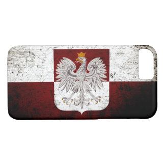 Black Grunge Poland Flag iPhone 7 Case