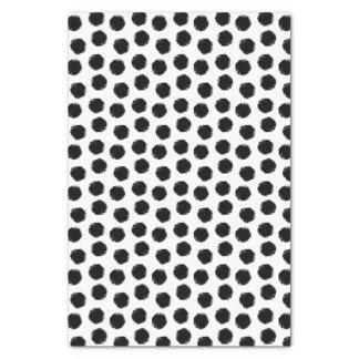 Black Grunge Polka Dot Print Tissue Paper