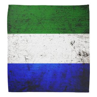 Black Grunge Sierra Leone Flag Do-rags