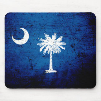 Black Grunge South Carolina State Flag Mouse Pad