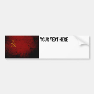 Black Grunge Soviet Union Flag Bumper Sticker
