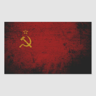 Black Grunge Soviet Union Flag Sticker