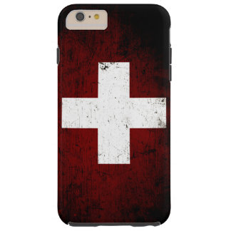 Black Grunge Switzerland Flag Tough iPhone 6 Plus Case