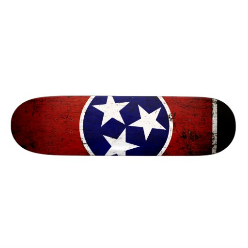 Black Grunge Tennessee State Flag Skate Board Decks