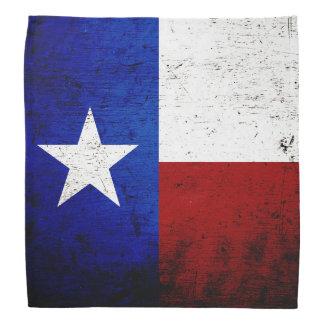 Black Grunge Texas State Flag Bandana