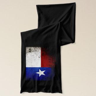 Black Grunge Texas State Flag Scarf