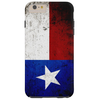 Black Grunge Texas State Flag Tough iPhone 6 Plus Case