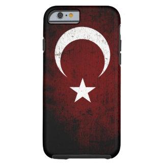 Black Grunge Turkey Flag Tough iPhone 6 Case