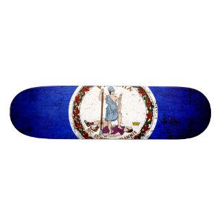 Black Grunge Virginia State Flag Skateboards