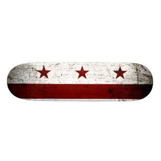 Black Grunge Washington DC Flag Skate Board Deck