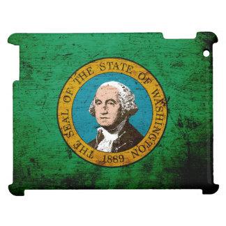 Black Grunge Washington State Flag iPad Cases