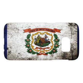 Black Grunge West Virginia State Flag Samsung Galaxy S7 Case