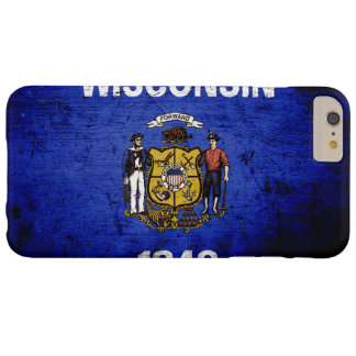 Black Grunge Wisconsin State Flag Barely There iPhone 6 Plus Case