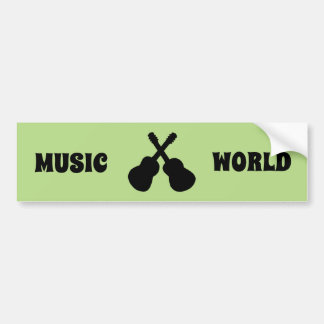black guitars bumper sticker