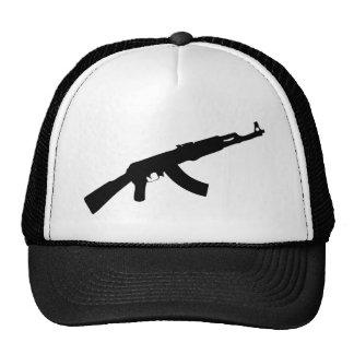 black gun ak 47 icon hats
