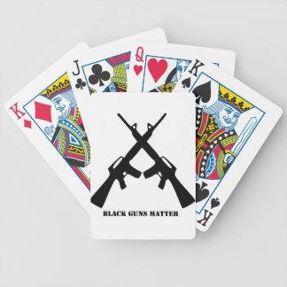Black Guns Matter Bicycle Playing Cards