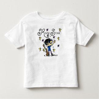 Black Hair Boy Rock Star Toddler T-shirt