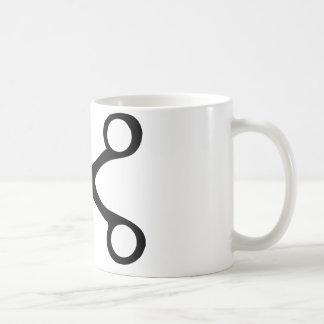 black hairdresser scissors basic white mug