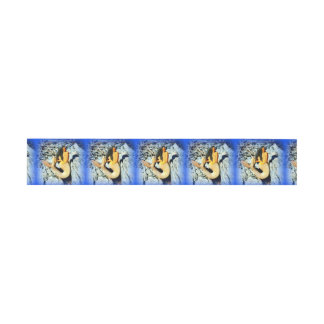 black-haired blue-tailed mermaids invitation belly band