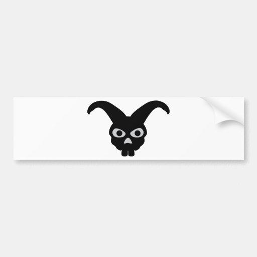 black halloween bunny bumper stickers