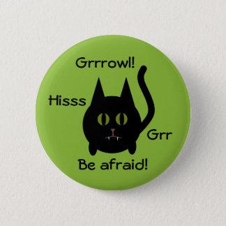 Black Halloween cat 2 Inch Round Button
