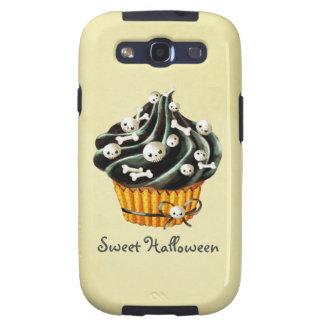 Black Halloween Cupcake Galaxy SIII Case