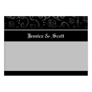 Black Halloween Gothic BLANK Wedding Place Cards Pack Of Chubby Business Cards