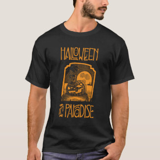 Black Halloween In Paradise Men's T-shirt