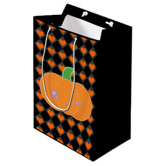 Black Halloween Kawaii Pumpkin Gift Bag
