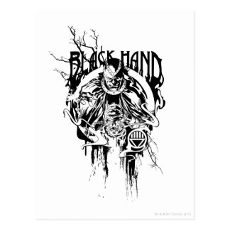 Black Hand 0 Graphic Collage, Black and White Postcard