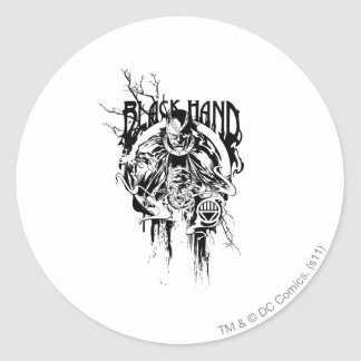 Black Hand 0 Graphic Collage, Black and White Stickers