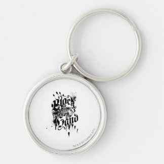 Black Hand - Collage Silver-Colored Round Keychain
