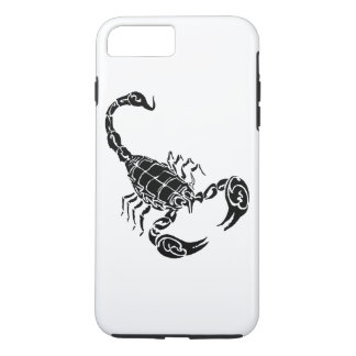 Black Hand-drawn Scorpion Doodle iPhone 7 Plus Case