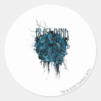 Black Hand - Graphic Collage Round Sticker
