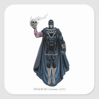 Black Hand with Skull 1 Square Sticker