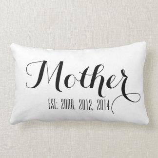 Black Handwriting Script | Mother's Day Pillow