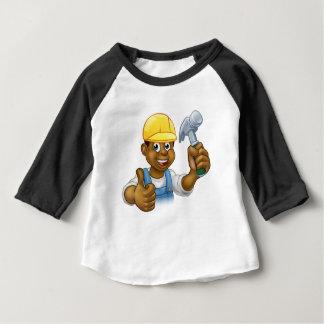 Black Handyman Cartoon Character Baby T-Shirt