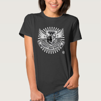 Black HAPPY NEW WORLD Woman Shirt