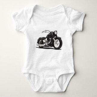 Black Harley motorcycle Baby Bodysuit