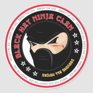 Black Hat Ninja Sticker